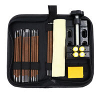 18 Pcs/set Stone Carving Knife Tool Set Woodworking Chisel Tools Clamp Bed