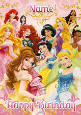 Disney Princess Group **Personalised Birthday Card** Any Name/Age A5 (P14)