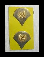 2 Stück US Army SPECIALIST 22 K Gold-Auflage Pin Abzeichen Kragenspiegel
