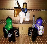 Lego Classic Castle Knights Kingdom Ritter  Figuren. Minifig. Reiter Pferde H13