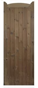 WOODEN TREATED / THERMOWOOD ARCHED GARDEN GATE 'ASHTON'