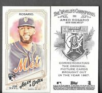 Amed Rosario 2018 Topps Allen & Ginter A&G BACK MINI Mets RC #203