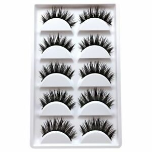 Thick Cross double layer false eyelashes popular beauty tools five pairs - YD2X9