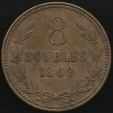 More details for 1868 guernsey 8 doubles coin | british coins | pennies2pounds