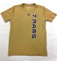 NFL Outerstuff Boys Los Angeles Rams Vertical Grid Dri-Tek T-Shirt Sizes 8-18