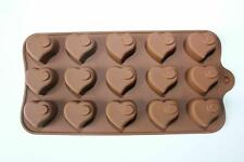 15 cell Heart Swirl Chocolate Box Candy Silicone Bakeware Mould Cake Wax Melt