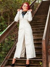 Lackmantel Lack Mantel Weiß Glänzend Bodenlang Vinyl Maßanfertigung