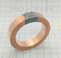 12mm x 0.3mm x 4m High Purity T1 99.96% Low Oxygen Copper Strip Strap battery