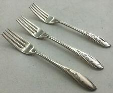 3 Dinner Forks International Silver Silverplate Springtime 1957 Rogers Floral