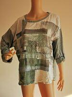 CECIL Damen Shirt Longsleeve T-Shirt Gemustert Gr. XXL 44 46   LRS1776