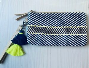 Blue And Yellow Holiday Coin Purse