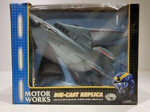 MotorWorks F-14 TOMCAT Military Replica Series Die Cast Metal 1:48 Scale NEW