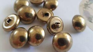 Vintage shank button new from shop 12pcs, diameter 15.2 mm,colour: vintage brass