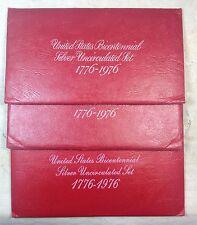 Lot of 3 - 1976 S Eisenhower Ike SILVER Dollars Kennedy Half Washington Qtr