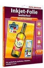 Inkjekt-folie Wetterfest matt Data Becker GmbH Co.kg