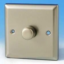 Varilight 1-Gang 2-Way Push-on/off V-Com LED Dimmer 1 x 30-220W Satin Chrome
