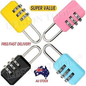 Combination Lock Travel Padlock Locker 3 digit Security Suitcase Luggage Bag Gym