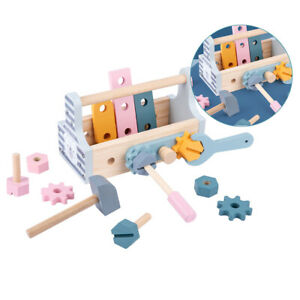 Wood Repair Tools Kit Toolbox Nut and Gear DIY Construction Play Toys Gift
