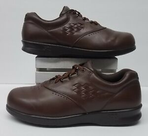 SAS Free Time Women's Size 8 Tripad Comfort Brown Leather Lace Up Oxford Shoes