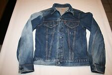 Vtg LEVI'S 1960s BIG E Denim Jeans Jacket Trucker 2 Pocket # 525  S USA Patina