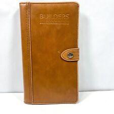 "Cutter & Buck Legacy Leather Passport Wallet Builders International 9"" x 5"""