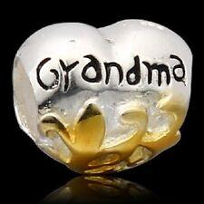 ❤❤ Grandma Genuine 925 Sterling Silver Charm Bead Fits European Bracelet ❤❤