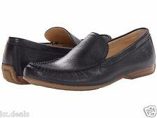 SIZE 8M FRYE MEN'S LEWIS VENETIAN BLACK SLIP ON LOAFERS AS269