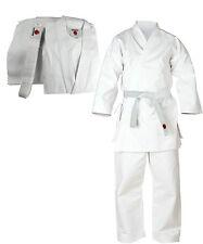 Senshi Japan Coton Kimono De Karaté Arts Martiaux Uniforme Aikido Étudiant Blanc
