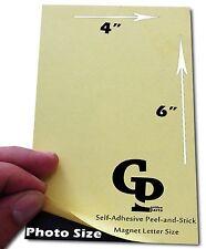 "50 PCS Self-Adhesive Peel-and-Stick 6"" x 4"" Photo Size Magnets"