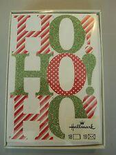 Hallmark Boxed Lot Of 18 Christmas Cards Nib Holiday Ho! Ho! Ho! #cvt3ed