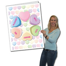 Giant Will You Marry Me? Card, - 2' x 3' w/envelope-