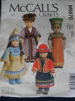 """International Costumes and Accessories for 18"""" Dolls Sewing Pattern M 6670"""