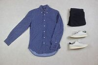 Gitman Vintage - Shirt - Blue/White Paisley Pattern - Small
