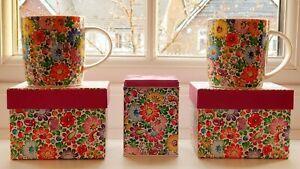 FOLK Gift Set: 2 Mugs in Boxes+Can / Zestaw: 2 Kubki W Pudelkach+Puszka