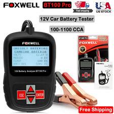 Foxwell BT100 PRO 12V Auto Car Battery Analyzer 100-1100 CCA Battery Load Tester