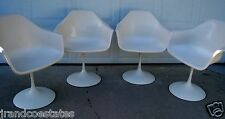 Mid Century Vintage Tulip fiberglass arm chairs Knoll Eero Saarinen Eames era