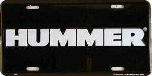 Hummer Black License Plate Wall Sign Made in the USA
