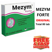 Mezym Forte pack 80 tablet, enzyme pancreas Мезим Форте, FAST SHIP Mezim