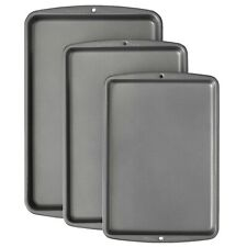 Non-Stick Wilton Bake It Better 3-Piece Cookie Sheet Pan Set For Kitchen Baking