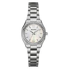 Bulova Women's 96R199 Diamond Bezel Quartz Stainless Steel Dress Bracelet Watch