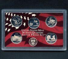 "2004 'S' USA Proof Silver ""State Quarter Set"" 5 Coins Encased"