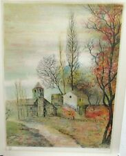 ANTONIO RIVERA FRENCH LANDSCAPE LIMITED EDITION SIGNED LITHOGRAPH WITH C.O.A #4