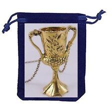Hufflepuff Trinkpokal + Halskette 50 cm + Samtschmuckbeutel (Harry Potter)Neu``
