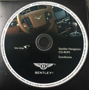 GENUINE BENTLEY SAT NAV NAVIGATION CD SCANDINAVIA MAP CD-ROM GT GTC CONTINENTAL