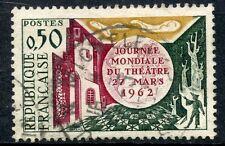 TIMBRE FRANCE OBLITERE N° 1334 JOURNEE MONDIALE DU THEATRE