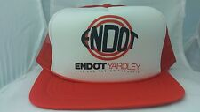 ENDOT Yardley Pipe and Tubing Products Snapback Red hipster mesh foam 1980's E