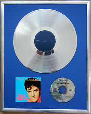 "Elvis Presley One Night gerahmte CD Cover +12"" Vinyl goldene/platin Schallplatte"