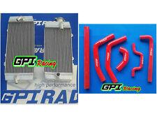 R&L Aluminum Radiator &RED HOSE Kawasaki KXF250 KX 250F KX250F 09-10 2009 2010