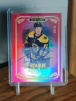2019-20 Upper Deck UD Stature Trent Frederic RC Red Auto! #43/45 *BRUINS*
