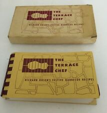 The Terrace Chef Richard Rosen 1952 Collectible Cookbook in box! BBQ Recipes